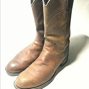VIntage Justin Boots Leather Low Western Cowboy